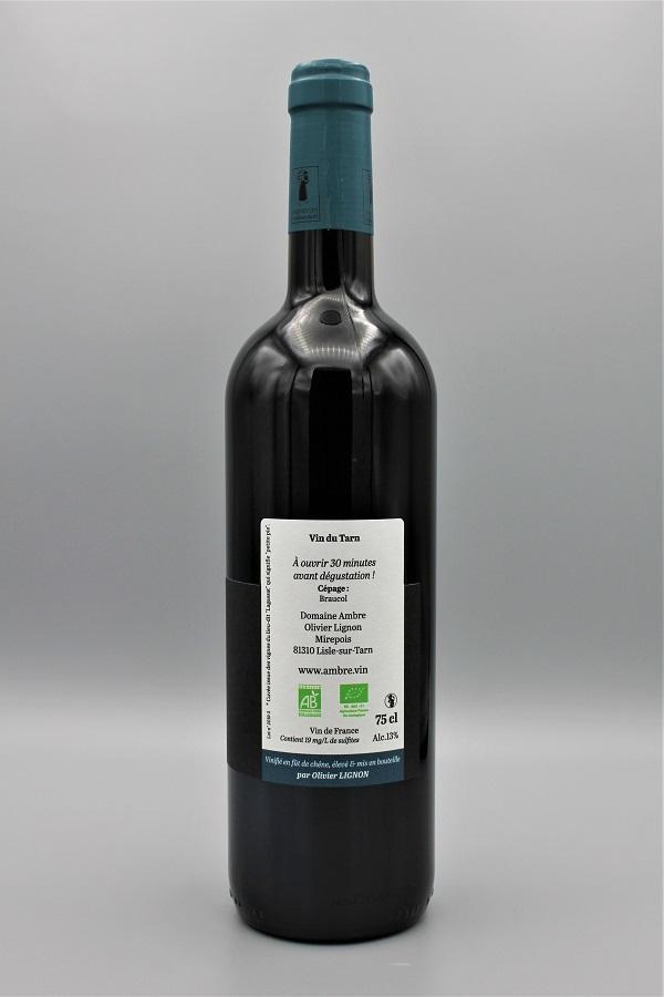 domaine Ambre biodynamie vin rouge naturel monocépage braucol contre-etiquette- Tarn 81