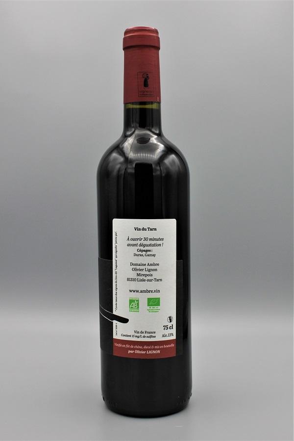 domaine Ambre biodynamie vin rouge naturel Ephémère - Tarn 81