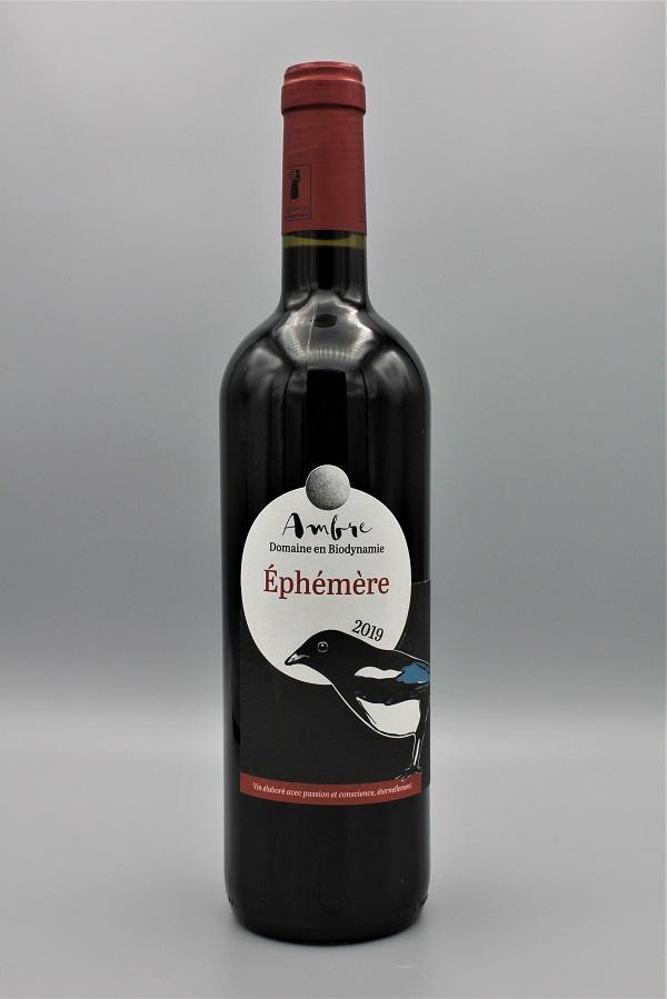domaine Ambre biodynamie vin rouge naturel Ephémère millésime 2019 - Tarn 81